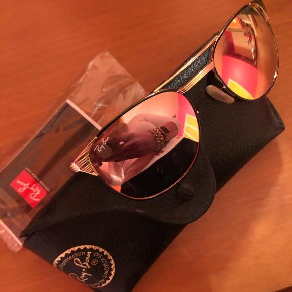 Pink Ray Ban sunglasses. #RayBan